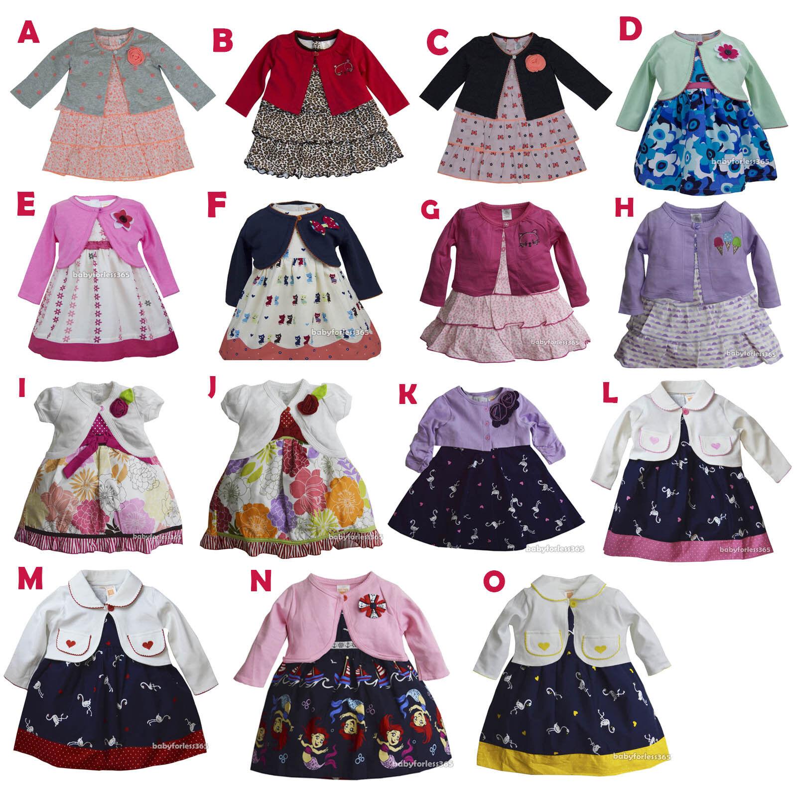New Ashley/'s Baby Girls 3 pieces Cardigan Shirt Legging Size 12 18 24 months