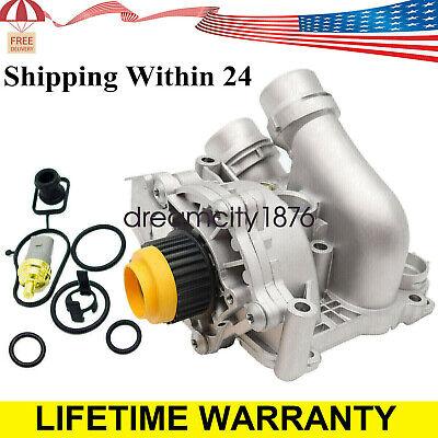 Aluminum Water Pump For A4 A3 TT VW Tiguan Jetta Golf GTI Eos Beetle CC 2.0T TSI