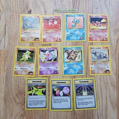Gym Heroes/Challenge Set (No 132) Pokemon Cards Bundle/Job Lot Original Rare