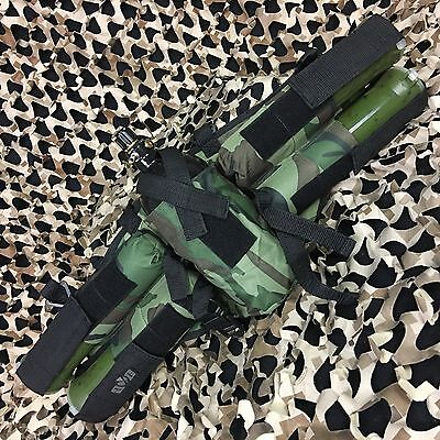 NEW Gen X Global GxG 4+1 Horizontal Paintball Tank & Pod Pack Harness - Camo