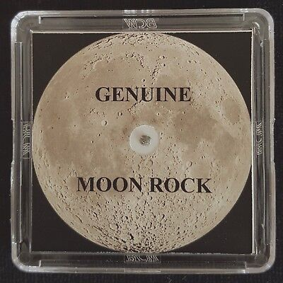 Bona fide MOON METEORITE ROCK - 4mg, With Authentication Certificate