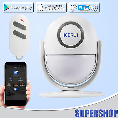 Wp6 Wifi Pir Motion Detector Door Chime Home Alarm System Security App Control