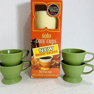 Solo Cozy Cups Plastic Refills White 42 pieces 7oz  Plus 4 Lifetime Holders