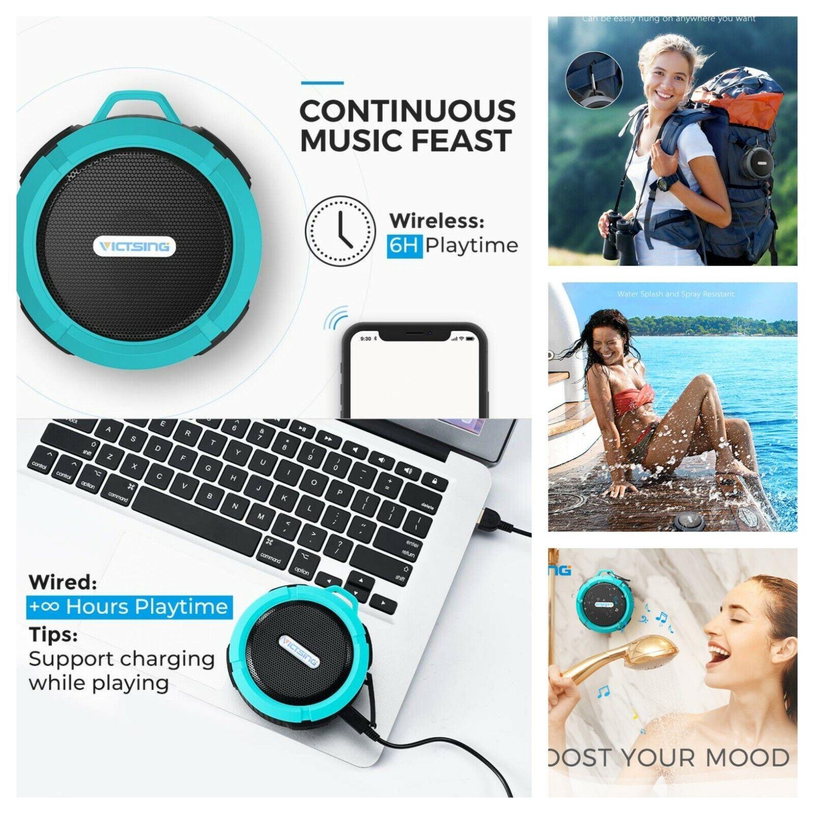 VicTsing SoundHot C6 Portable Bluetooth Speaker, Waterproof