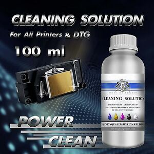100ml Print Head Cleaner Cleaning Fluid Unblock Solution for any Inkjet Printer