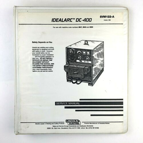 Lincoln Electric IDEALARC DC-400 Service Manual SVM122-A