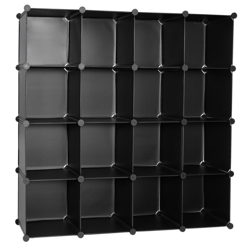 Shelves Cubes Organizer 16-Cube Closet Organizer Storage DIY Cabinet Book Shelf