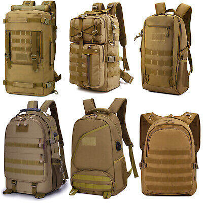 20/30/40/50L Tactical Backpack Molle Waterproof Military Rucksack Shoulder Bag