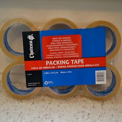 6 Rolls of Chateau Clear Packing Tape