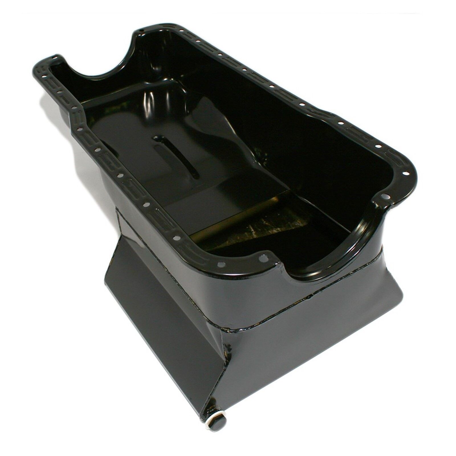 Black Drag Race Oil Pan Front Sump - 65-87 SBF Ford 7qt Small Block 260 289 302