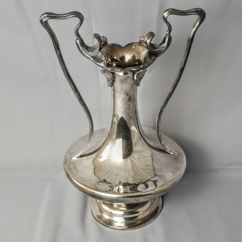 Barbour Silver Co Quadruple Plated 2083 Art Nouveau Double Handle Trophy Vase