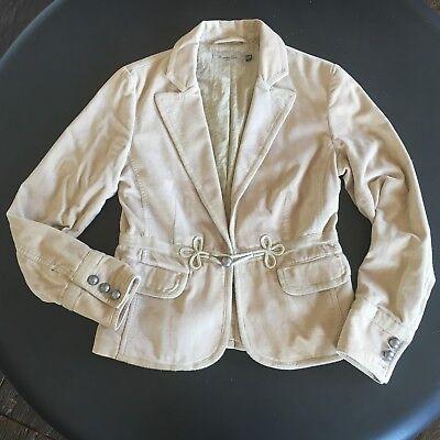 MASSIMO DUTTI beige velvet cotton blazer - size 40 - veste - jacket