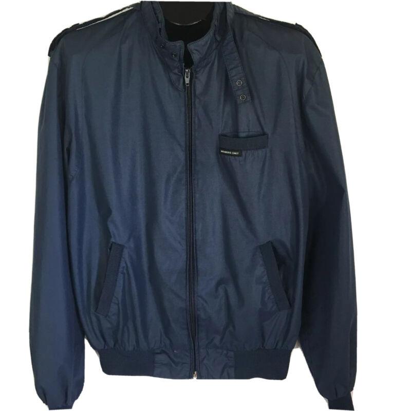 Members Only Europe Craft Navy Blue Jacket 42L The Racer Full Zip Vintage