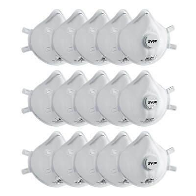 15x UVEX sliv-Air 2310 FFP3 NR D mit Ventil Atemschutzmaske Mundschutz Maske P3