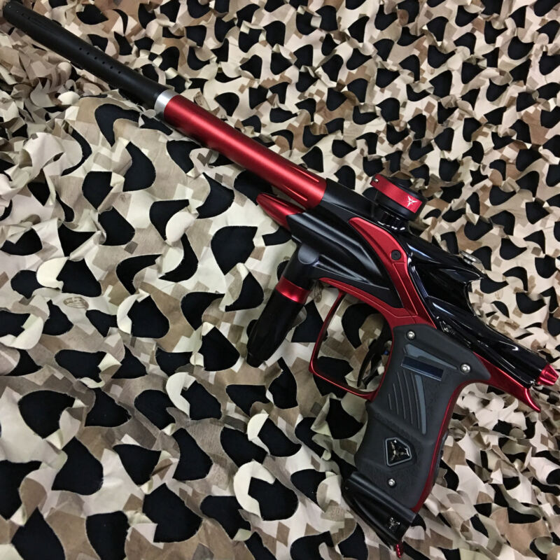 NEW Dangerous Power Fusion Elite Electronic Paintball Gun Marker - Black/Red