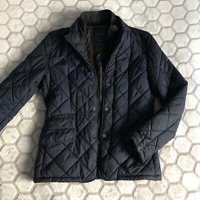ZARA Men's Quilted Puffer Jacket Blazer Navy Small