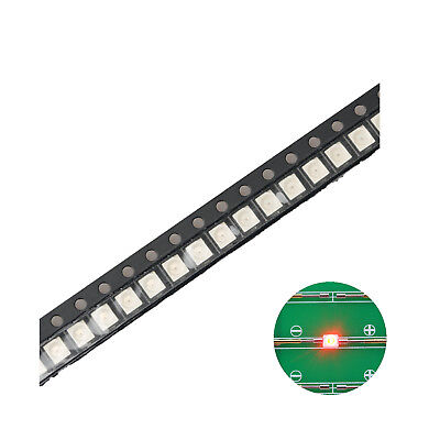 100pcs 12103528 Smd Led Diode Lights Red Super Bright Lighting Bulb