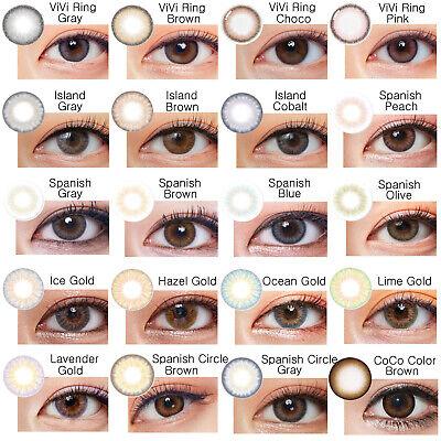 BlackPink Spanish ViViRing Island Gray Brown Color Korean Circle Contact Lenses