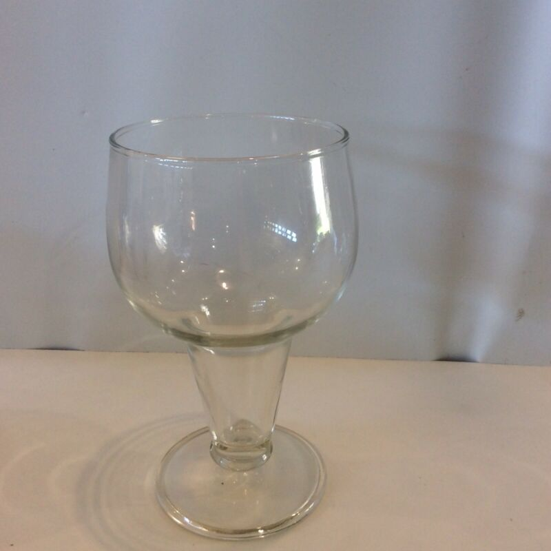 Vintage Hollow Stem Beer Glasses Goblet MCM Barware Set of 6+1