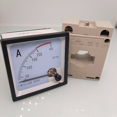 Us Stock Ac 0200a Analog Amp Current Panel Meter Ammeter Current Transformer