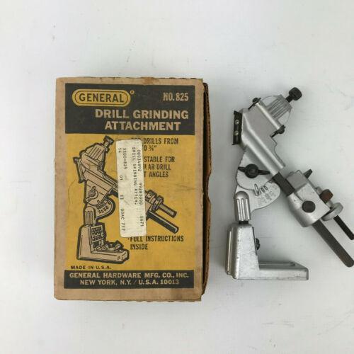 Vintage General Drill Grinding Attachment Sharpener No. 825 Original Box