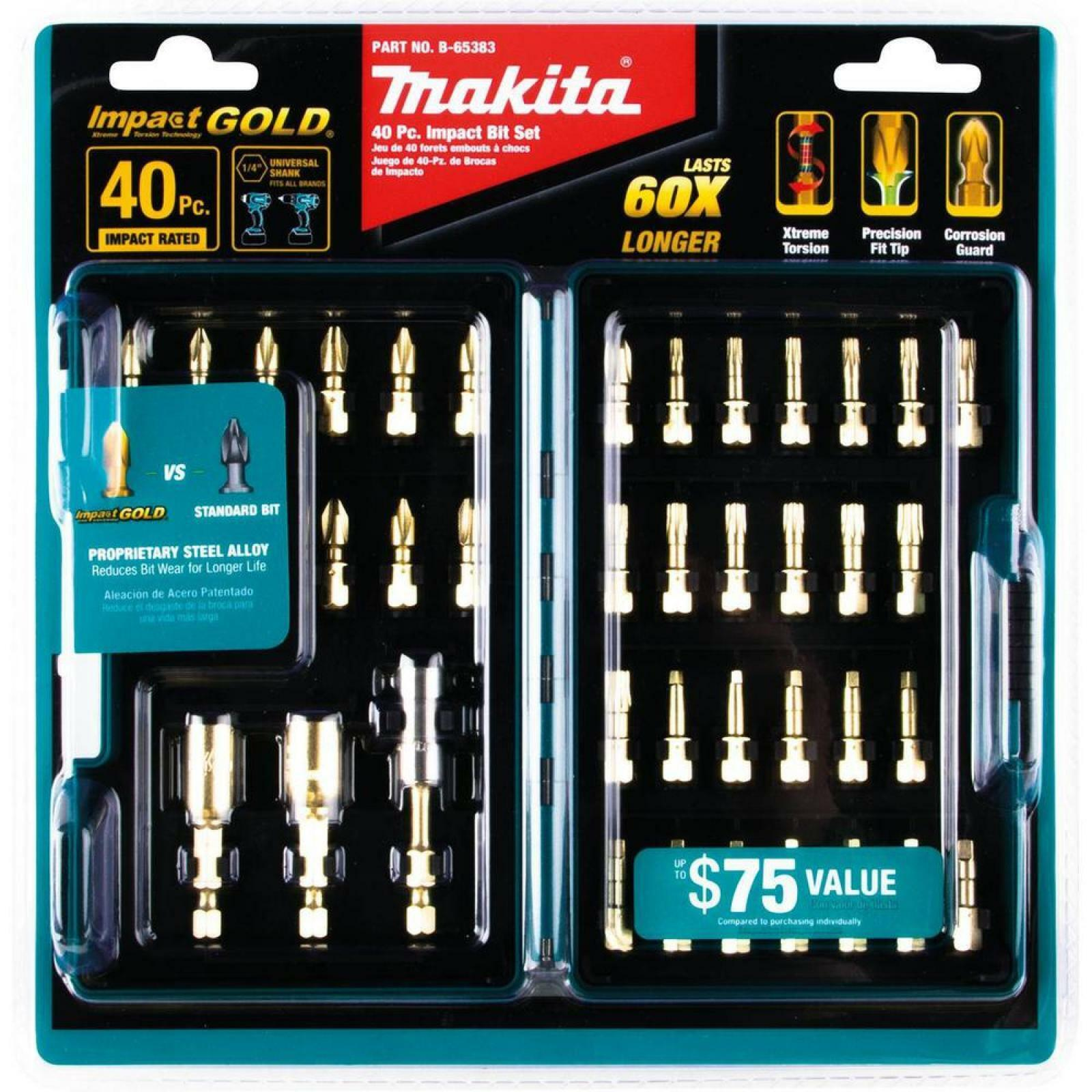 Makita ImpactX 40 pc Precision Driver Bit Set 40 Pieces