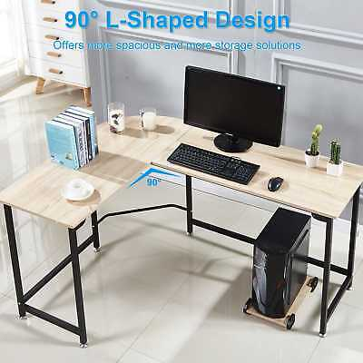 L-shaped Corner Desk Computer Desk Gaming Laptop Table Home Office Workstation-s