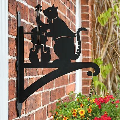 New Cat & Fiddle Iron Hanging Basket Bracket - 47cm x 33cm