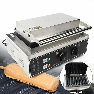 1500w Electric Waffle Maker 6pcs Hot Dog Machine Baking Machine Stainless Steel