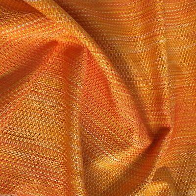 Gestreifte Polster (Polsterstoff Möbelstoff Webstoff Strukturstoff Stuhl Meterware Orange gestreift)