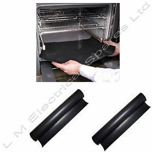 2 x Universal Teflon Oven Cooker Liner Non Stick Heavy Duty Lining 40 x 50 cm