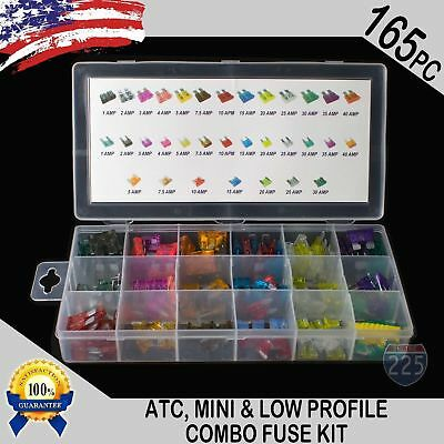 - 165 pcs ATC / MINI / Low Profile / Mini Blade Fuse Auto Car FUSES Assortment Kit