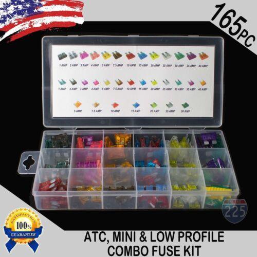 165 pcs ATC / MINI / Low Profile / Mini Blade Fuse Auto Car FUSES Assortment Kit