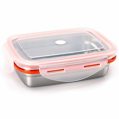 Food Storage Container STENLOCK Stainless Steel Side lunch Box Rectangle no 5