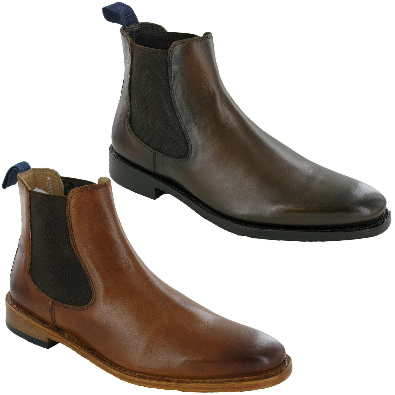 05679073d0c Mens Leather Chelsea Ankle Dealer Boots Catesby Twin Gusset Riding ...