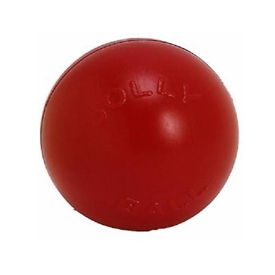 Jolly Pets Push-N-Play Ball Red 10 inch   Hard Plastic Chew Toy for Dogs Jolly Ball Plastic Balls