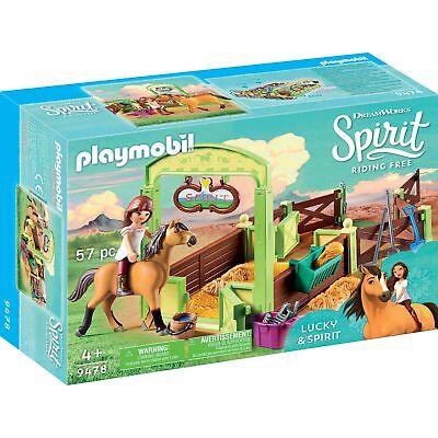 "PLAYMOBIL Pferdebox ""Lucky & Spirit"", Konstruktionsspielzeug, braun"