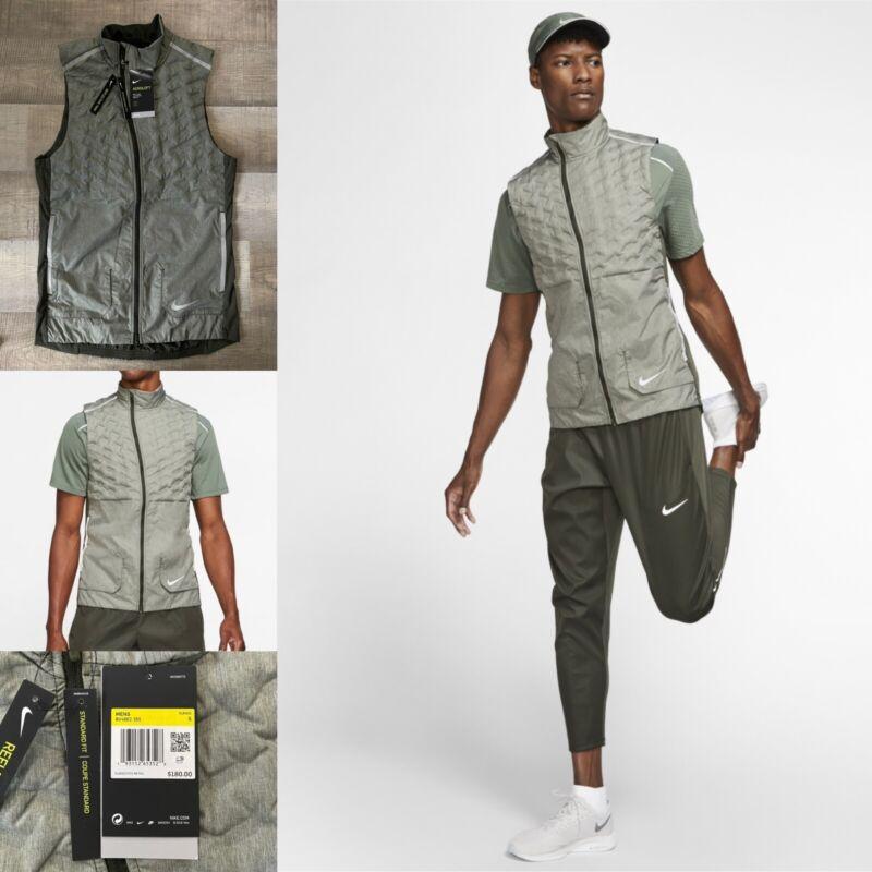 Nike Aeroloft Full-Zip Texturized Running Vest BV4862-355 NWT! Men's Size Small