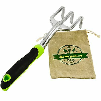 Homegrown Garden Tools Premium Hand Cultivator - Best for Turning Soil & Weeding