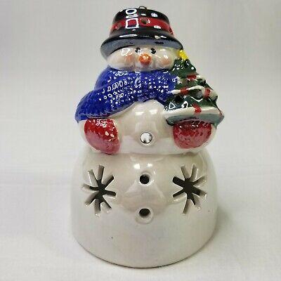 Christmas Snowman Ceramic Light Up Lighted Ornament Figurine Decoration (BF3)