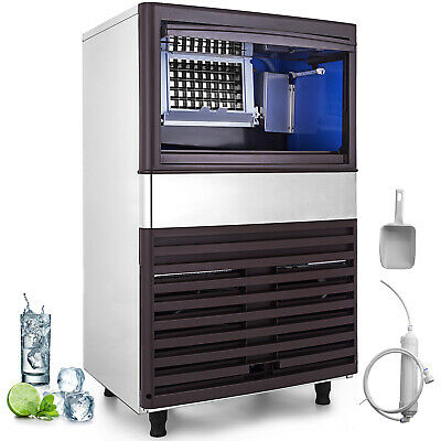 Commercial Ice Maker Automatic Stainless Steel 100lbs24h Freestanding Portable