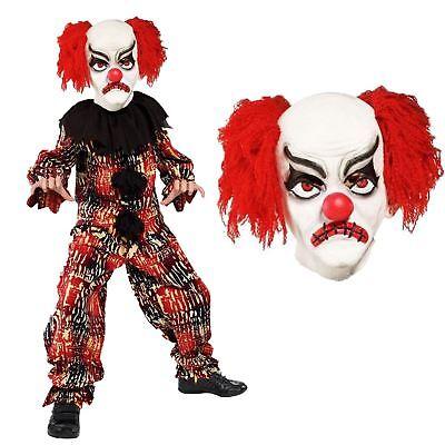 Kinder Jungen Deluxe Scary Gruselig Killer Zirkus Clown - Scary Halloween Kostüme Jungen