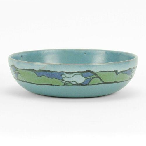 "PRP Saturday Evening Girls Paul Revere Pottery 8 3/8"" tulip bowl arts & crafts"