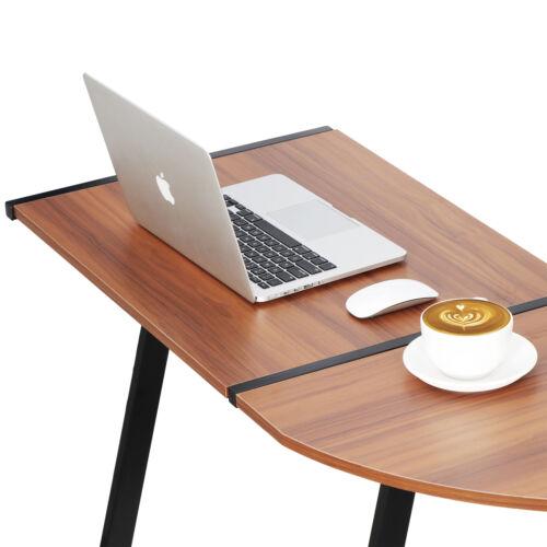 L-Shaped Corner Desk Computer Gaming Desk PC Writting Table Home Office Walnut Furniture