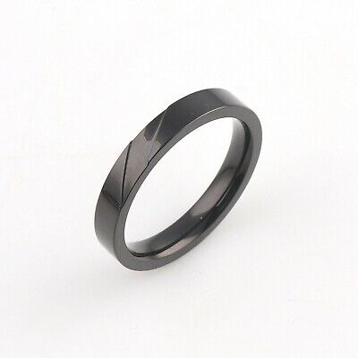 Mens Gents Contemporary Sleek Wedding Engagement Band Ring 18Ct Black Gold Over Over Tungsten Mens Ring