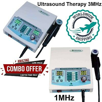 New Combo Ultrasound Therapy 1mhz 3mhz Unit Massager Us Machine For Home Use
