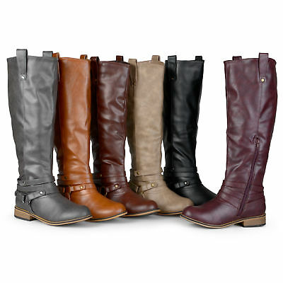 Journee Collection Womens Wide and Extra Wide Calf Riding Boots New