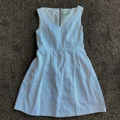 Kate Spade New York White Eyelet Lace Sleeveless Dress w/Pockets Size 2