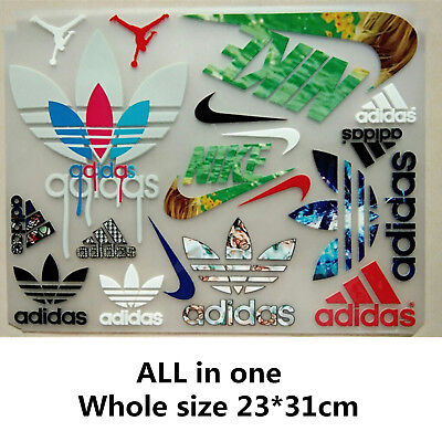 MIX colorful adidas NIKE Jordan Logo Iron-on Heat transfer patches cloth hats