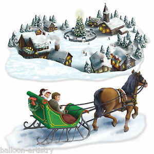 christmas wonderland scene setter add on prop   winter